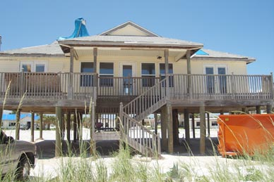 Hubbard Beach House Restoration Following Hurricane Ivan Pensacola Beach Fl Complete Inc