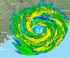 Hurricane Ike at landfall