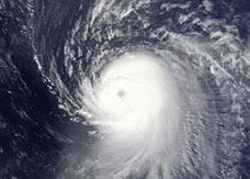Hurricane Ike satellite image