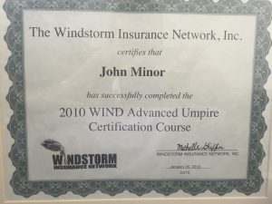 WIND Advanced Umpire Certification