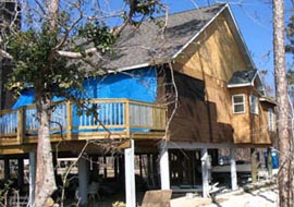 Hurricane Ivan damage to a residence in Gulf Breeze