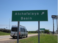 Atchafalaya Basin sign