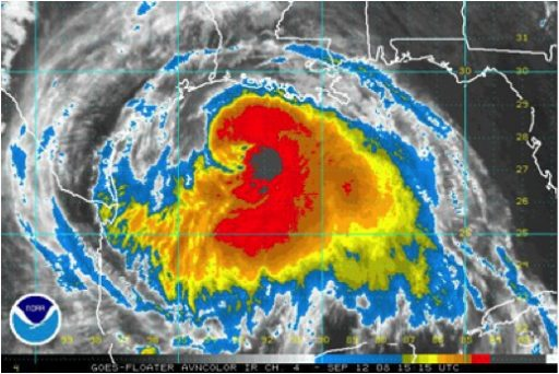 Photo courtesy of NOAA, Hurricane Ike