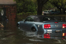 Hurricane Isabel flooding on Hatteras Island, NC.