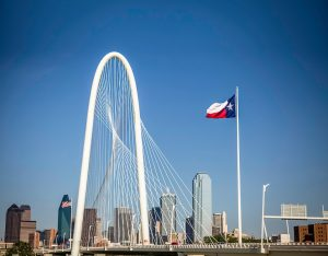 Margaret Hunt Bridge in Dallas