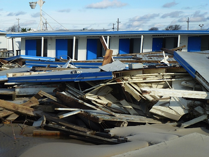Post-Sandy damage, photo by Complete