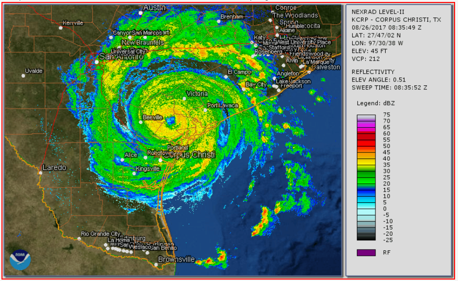 Hurricane Harvey Texas Radar