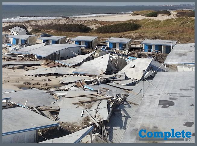 Hurricane Sandy damage at The Sands Beach Club