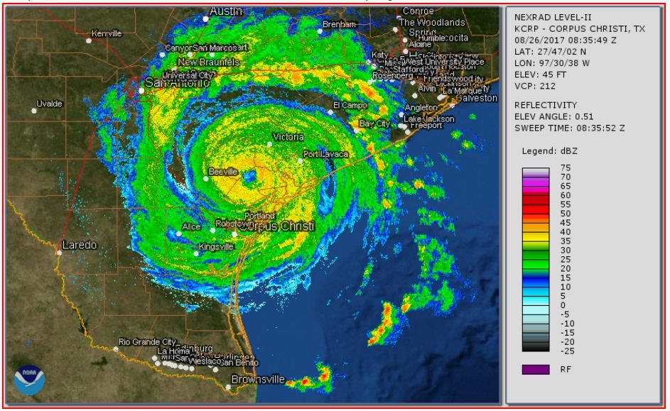 Hurricane Harvey Storm Radar