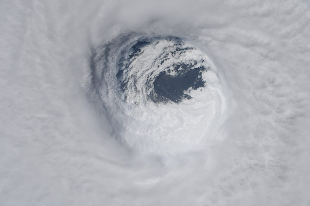 The eye of Hurricane Michael