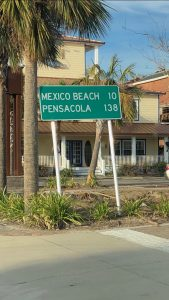 Mexico Beach Strret Sign