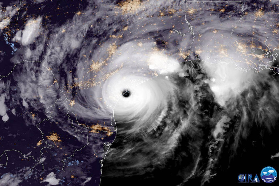 Geocolor Imagery of Hurricane Harvey Just Prior to Making Landfall