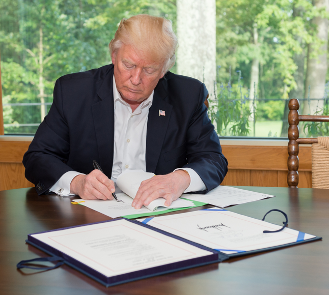 President Trump signs H.R. 601 into effect