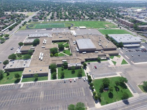 Amarillo High School - Aerial photo by Complete, 2017