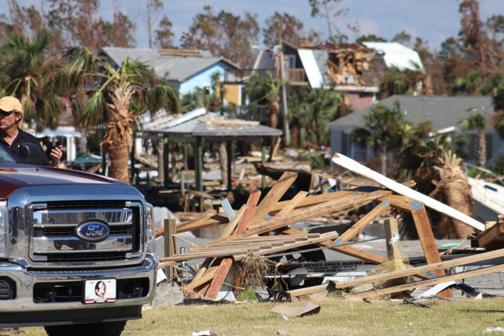 Team Complete on site surveying Hurricane Michael damage