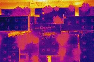 Aerial thermal imaging at Carver Elementary - Photo by Complete